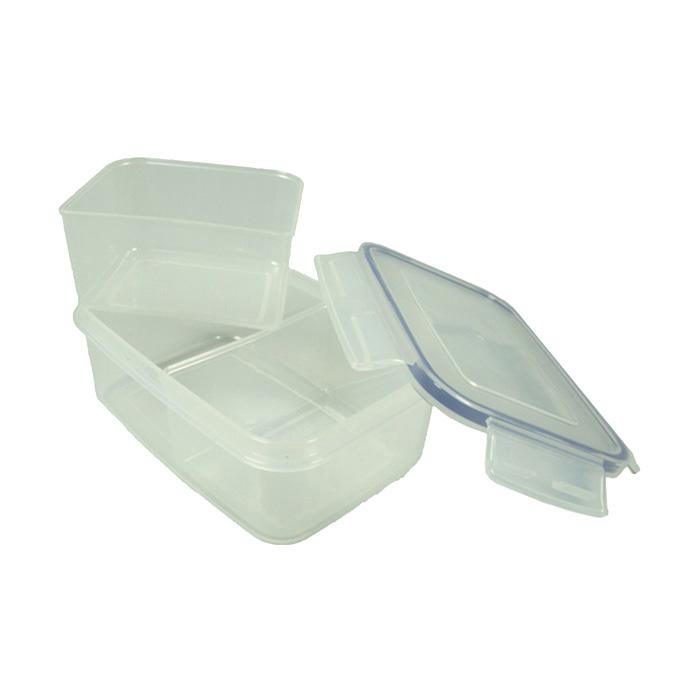 Komax Biokips Rectangular Air u0026 Water Tight Food Storage Container 900ml (30.4 fl.oz.) Includes two removealbe iders  sc 1 st  GetStorganized & Komax Biokips Rectangular Air u0026 Water Tight Food Storage Container ...